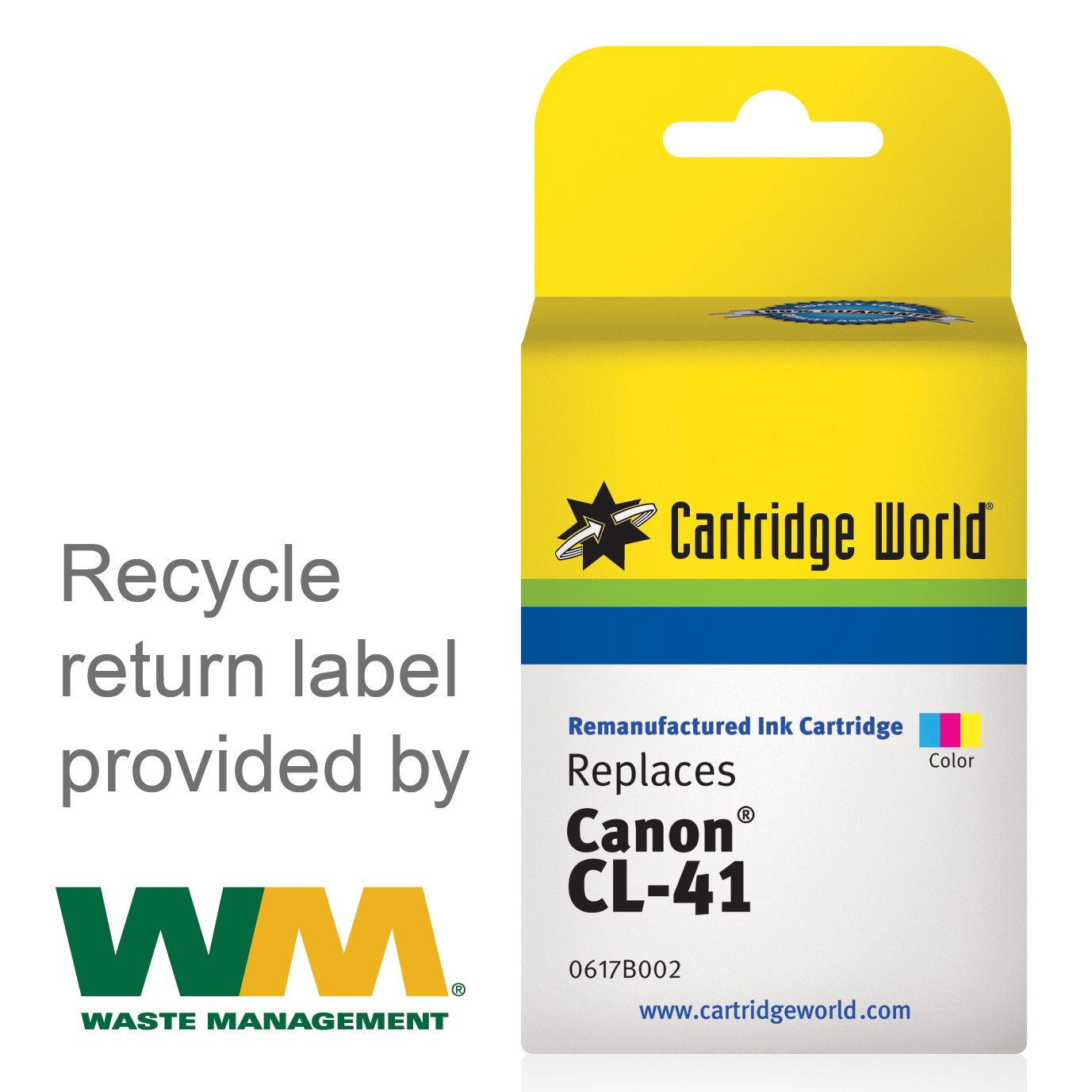 Cartridge World Remanufactured Ink Replacement Canon Cl 41 Colour Original For Tri Color Office Products