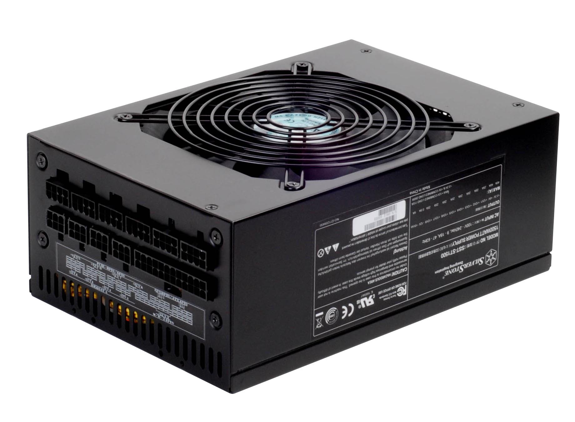 Silverstone Tek 1500W ATX12V/EPS12V SLI Ready CrossFire Ready 80 PLUS Silver Certified Modular Active PFC Power Supply (ST1500) by SilverStone Technology