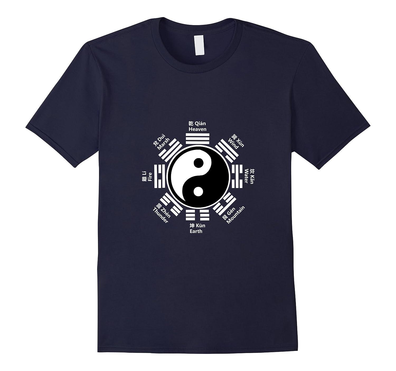 Ying Yang T-Shirt Chinese Yin Tai Chi Feng Shui Bagua Tee-AZP