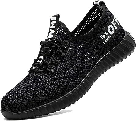 COOU Zapatos Seguridad Hombres Ligeros S3 Calzado de Seguridad Deportivo Antideslizante Zapatos de Trabajo Mujer Hosteleria: Amazon.es: Zapatos y complementos