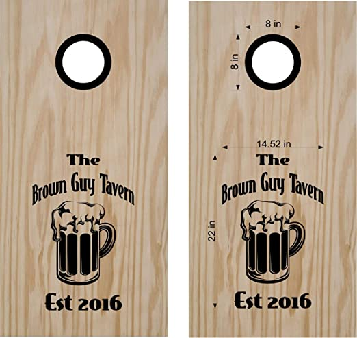 VINYL WRAPS Custom Cornhole Board DECALS Corn Hole Beanbag Game Wraps Wine Glass Bottle Set 19 Free Shipping!