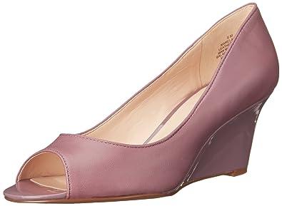 Nine West Womens Relaxinni Grey Leather - Heels
