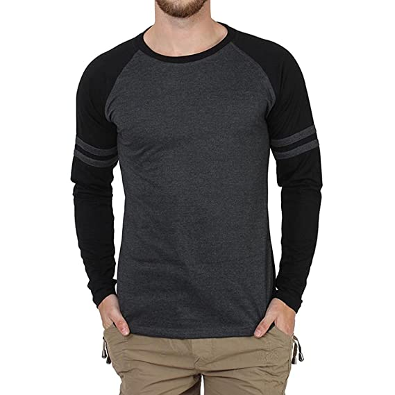 0d829bc9c5c STYLE SHELL Men s Cotton Raglan Full Sleeves T-Shirt  Amazon.in  Clothing    Accessories