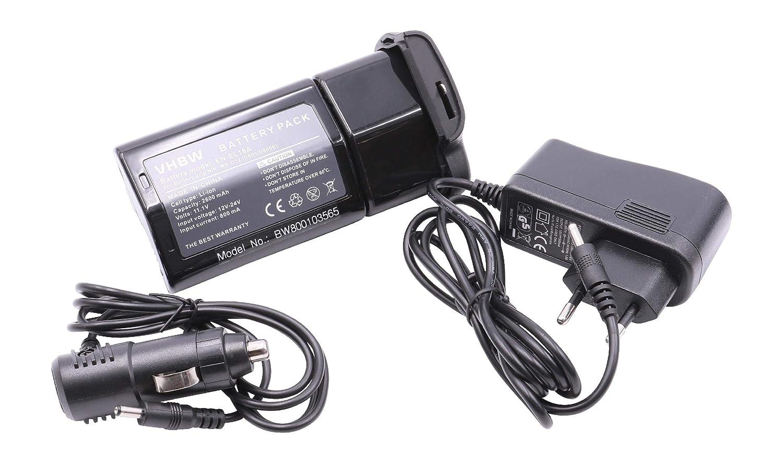 vhbw Batería Li-Ion 2600mAh Compatible con Nikon D800, D800E empuñadura MB-D12 sustituye EN-EL18A