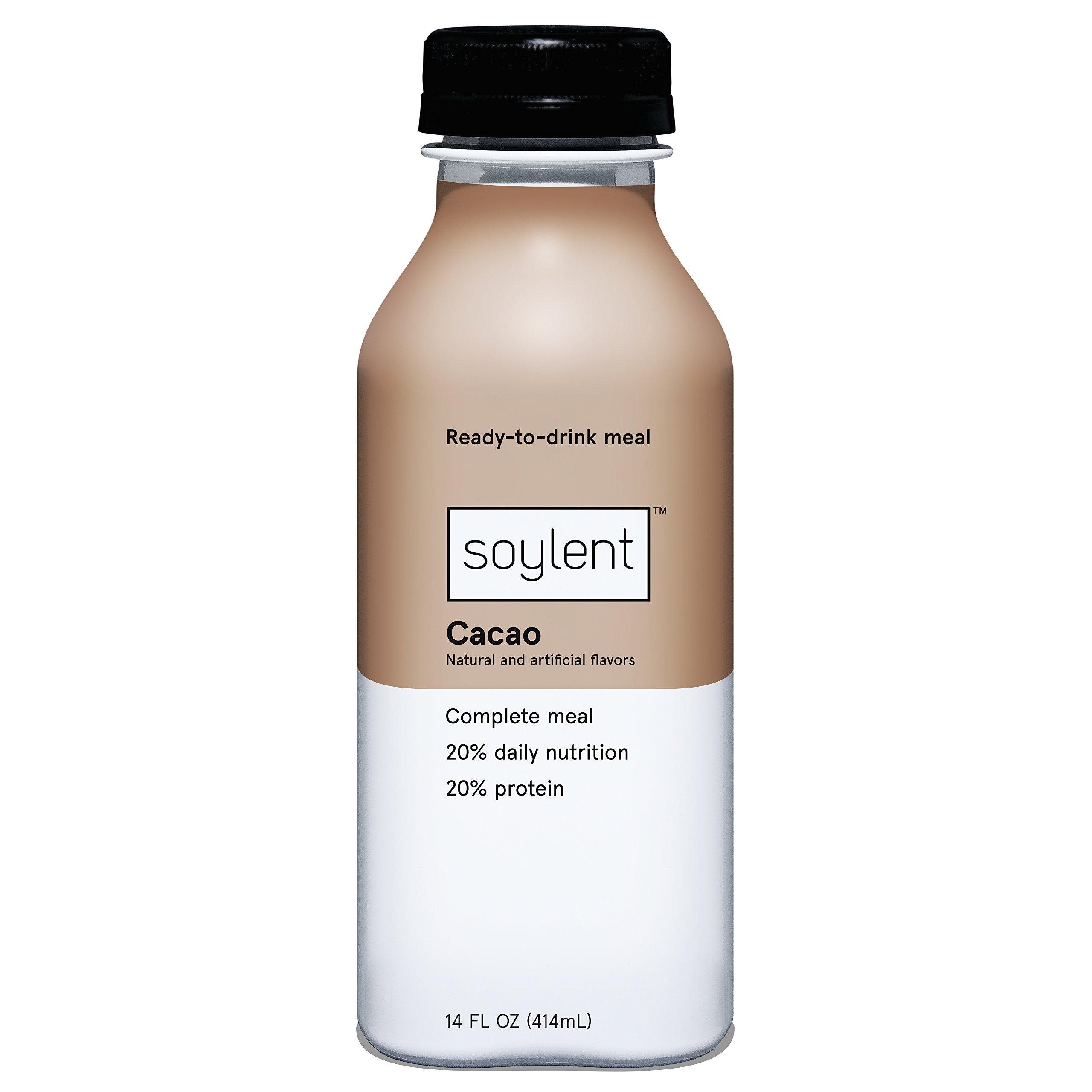 Soylent Meal Replacement Drink, Cacao, 14 oz
