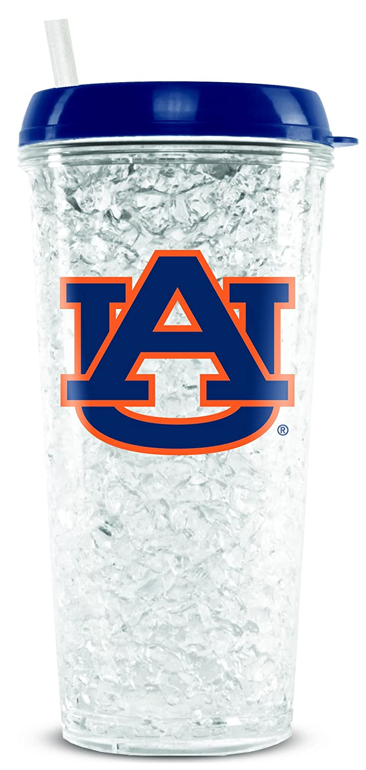 NCAA Auburn Tigers 16oz Crystal Freezer Tumbler with Lid and Straw Duck House Sports LCT