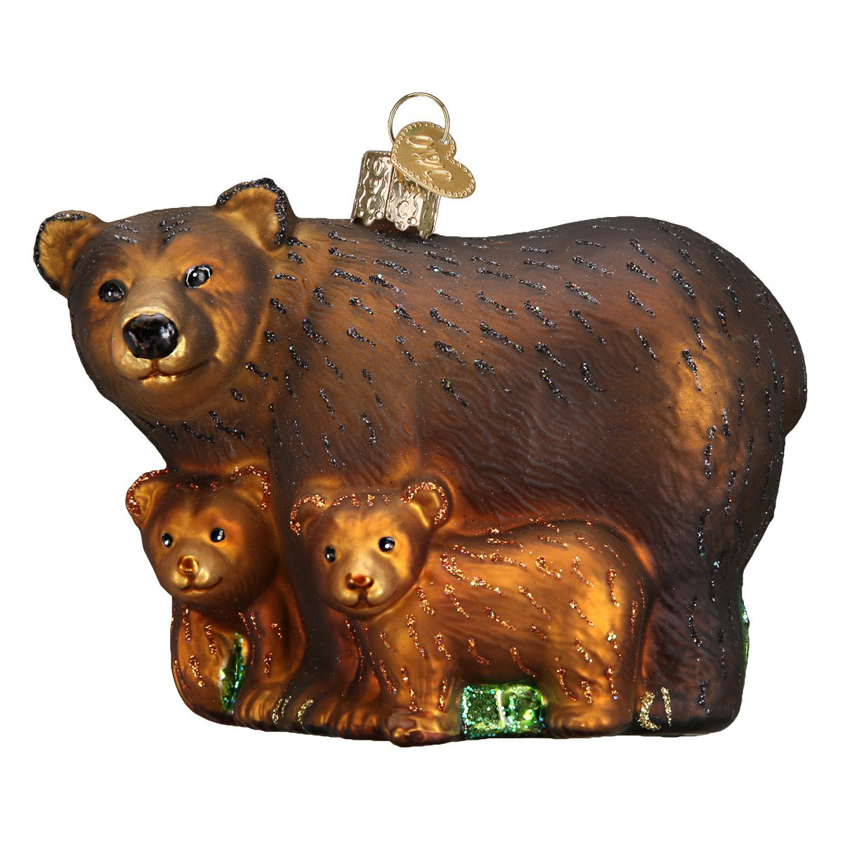 Cubs Christmas Ornaments.Old World Christmas Ornaments Bear With Cubs Glass Blown Ornaments For Christmas Tree
