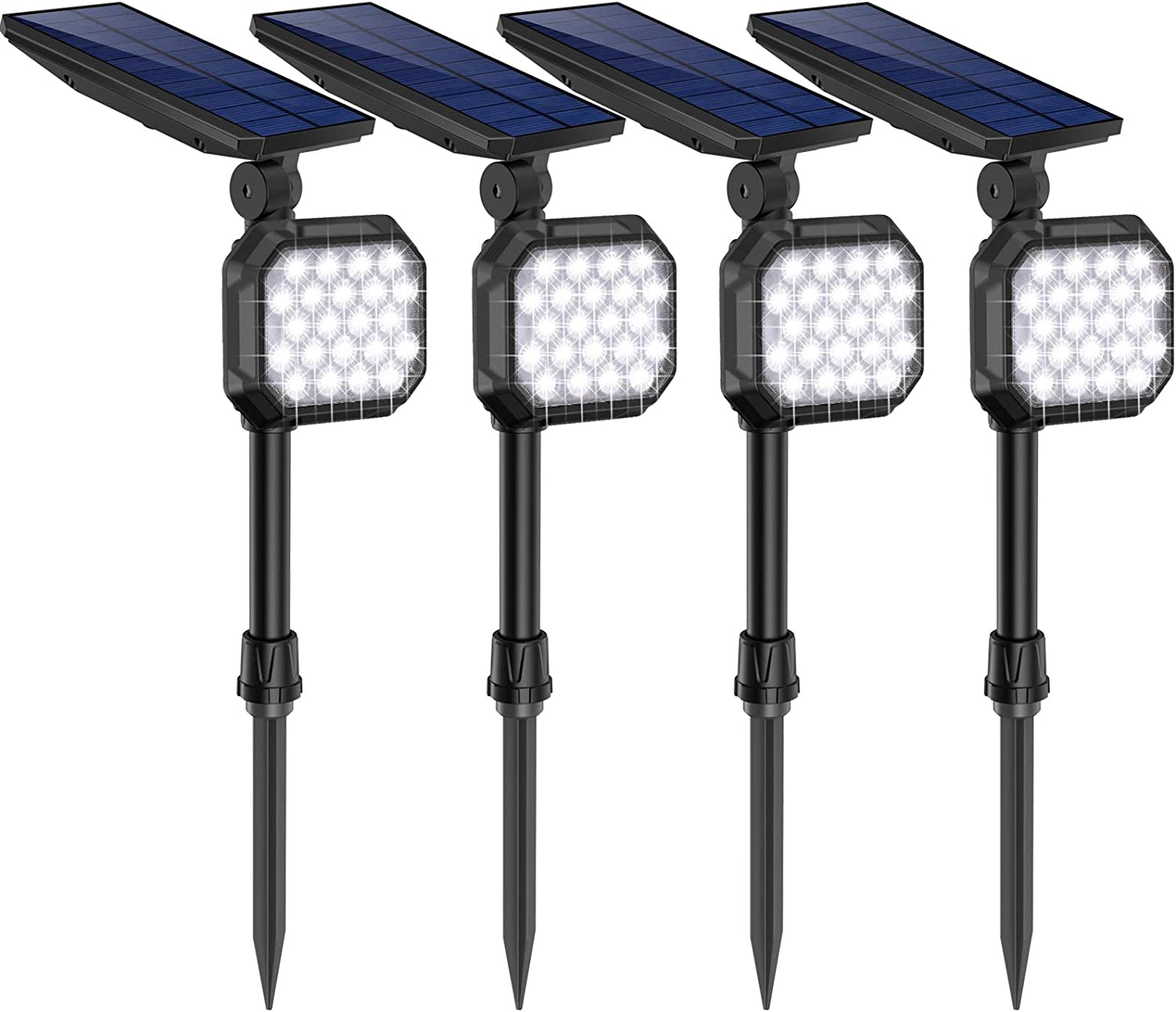 US STOCK* 4PACK Solar Spot Lights Outdoor LED Garden Landscape Path Wall Lamps