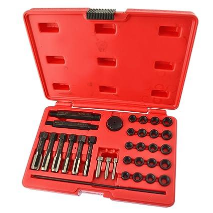 Culata de bujías Kit de reparación de roscas métricas 8mm / 10mm / 12mm 33pcs