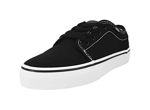 18955336c3 Image Unavailable. Image not available for. Color  Vans Kids Youth 106  Vulcanized Black White Skate Shoes ...