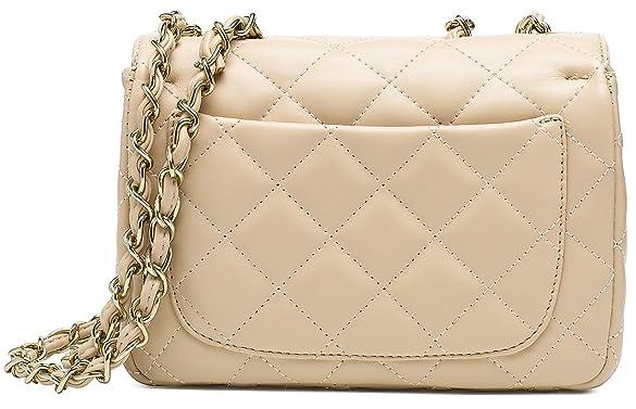 c5759a13dd76 ILISHOP Women's Fashion Shoulder Bag Quilting Chain Cross Korean .