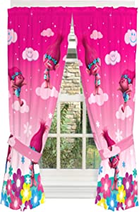"Franco Kids Room Window Curtain Panels Drapes Set, 82"" x 63"", Trolls"