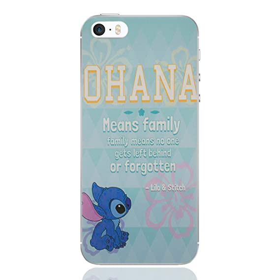 finest selection b4796 eac36 Amazon.com: iPhone 5/5s Lilo & Stitch Silicone Phone Case / Gel ...