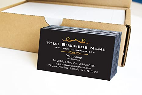 Amazon simple premium business cards 500 full color black simple premium business cards 500 full color black front white back 129 lbs colourmoves