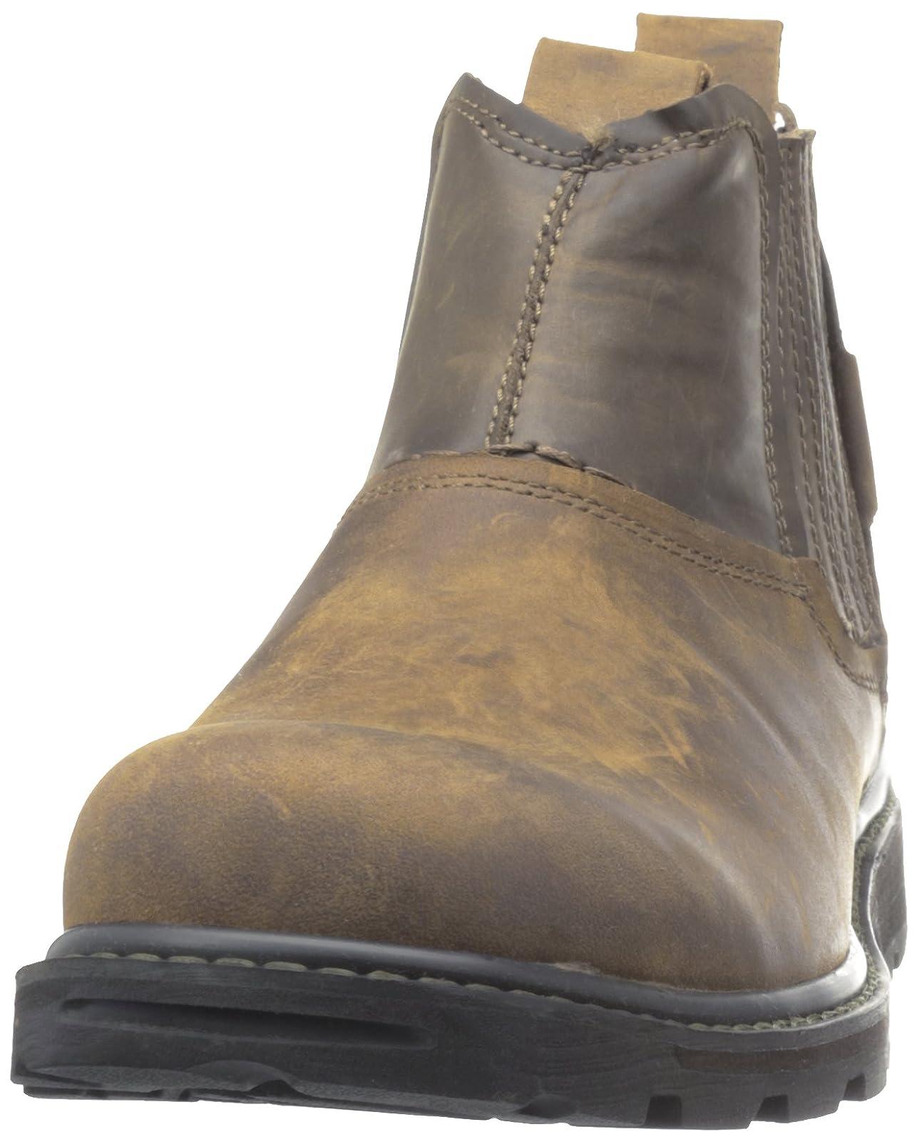 Skechers USA Men's Blaine Orsen Ankle Boot Dark Brown - 4