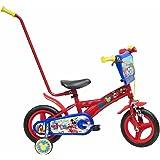 """Disney Cars Chrome Vélo Enfant Rouge 10"""" avec Canne"""