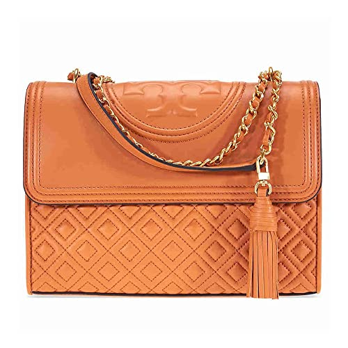 8a9cbe24eb2 Tory Burch Fleming Leather Quilted Convertible Shoulder Bag in Light  Masala  Amazon.in  Shoes   Handbags