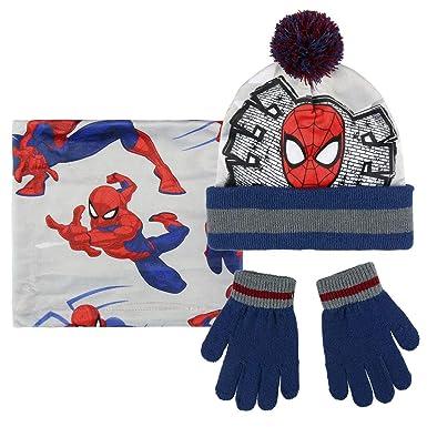 Cerdá Boy s Conjunto 3 Piezas Spiderman Scarf 418fe2efd6d5