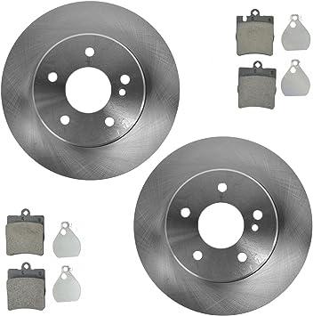 Brake Pad /& Rotor Rear Ceramic Kit Set for Mercedes Benz