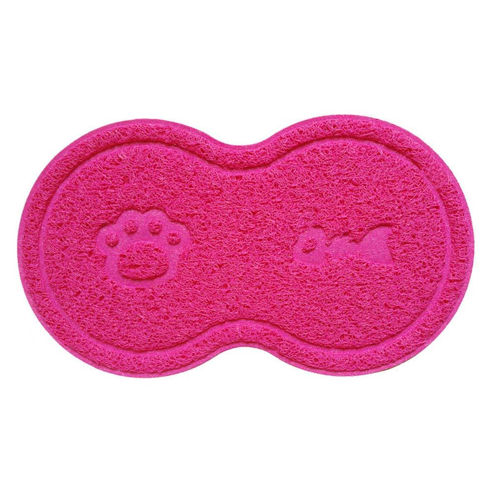 DrafTor Tapis pour Gamelle de Chien/Chat Multifonction Coussin de Nourriture en PVC pour Animaux de Compagnie(Rose)
