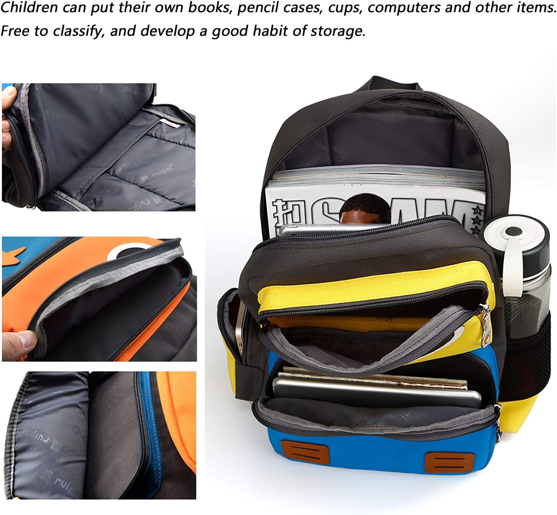 SIVENKE Mochila infantil para ni/ños de 5 a 10 a/ños Mochila de 15L mochila mochila mochila escolar mochila mochila escolar mochila escolar ni/ños ni/ñas 40 30 10 cm amarillo azul