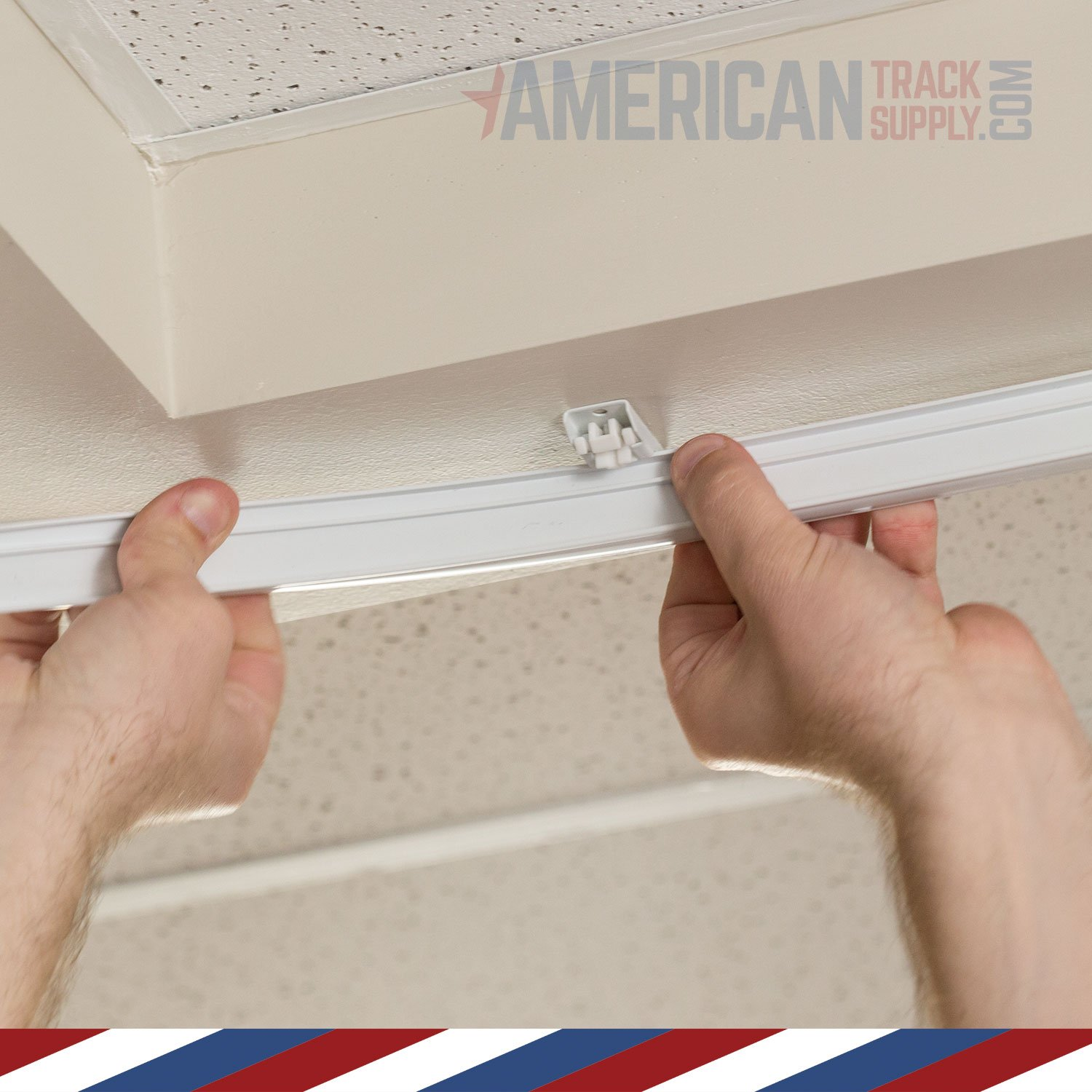 Curtain and Drapery Ceiling Track Set with Hooks - 3 Meter (9.8 feet) of Track, Easily Cut to Size and Everything Included for Install by American Track Supply (Image #4)