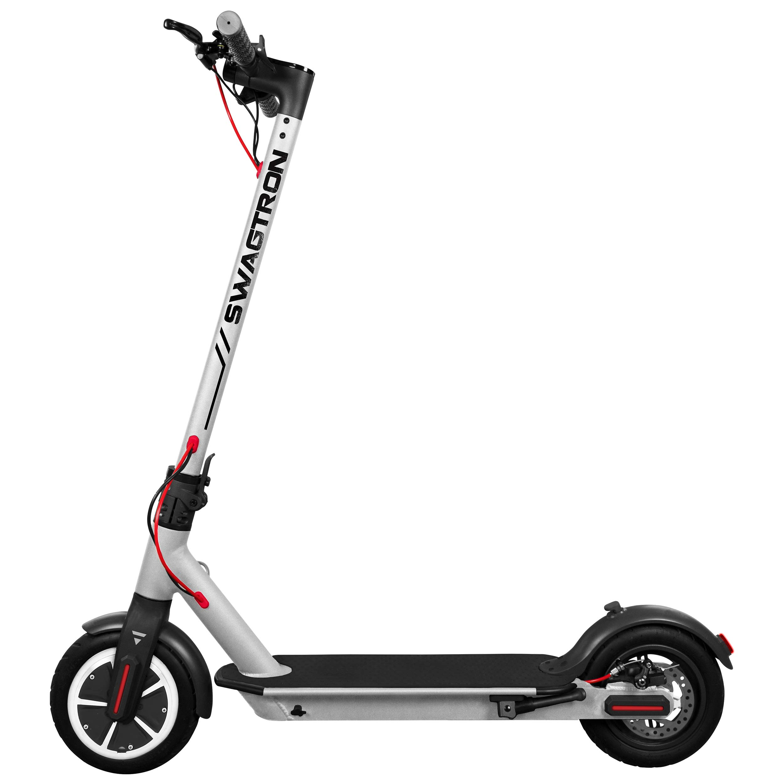 Swagtron High Speed Electric Scooter with 8.5'' Cushioned Tires, Cruise Control and 1-Step Portable Folding - Swagger 5