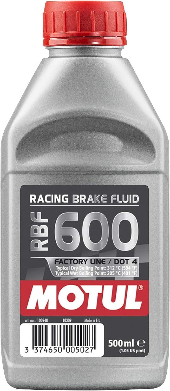 Motul MTL100949 8068HL RBF 600 Factory Line Dot-4 100 Percent Synthetic Racing Brake Fluid - 500 ml