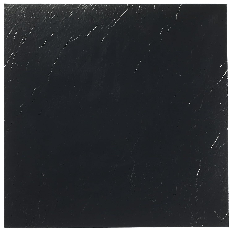 Achim Home Furnishings FTVSO10120 Nexus 12-Inch Vinyl Tile, Solid Black, 20-Pack
