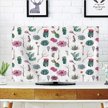 Cubierta de polvo para televisor LCD, decoración de cactus, dibujo ...