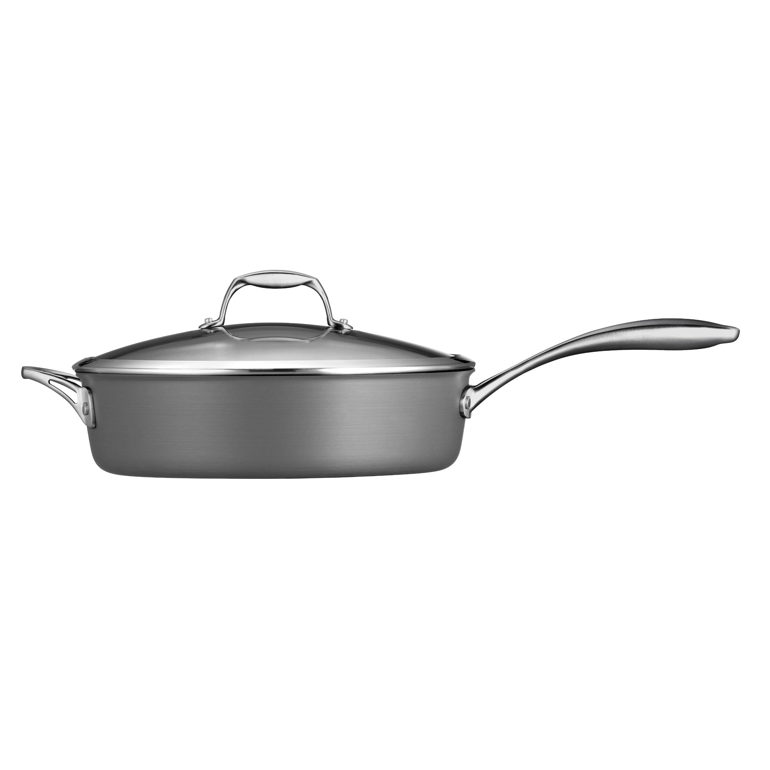 Tramontina 80123/009DS Gourmet Heavy-Gauge Aluminum Nonstick Covered Deep Saute Pan, 5.5-Quart, Hard Anodized