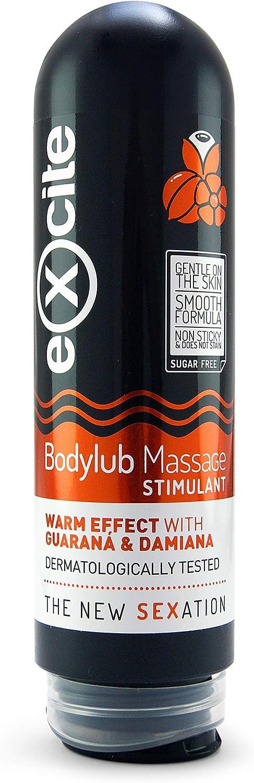 EXCITE Gel lubricante masaje íntimo con Guaraná y Damiana de cultivo ecológico. Lubricante íntimo 200ml. ¡Excítate todavía más!