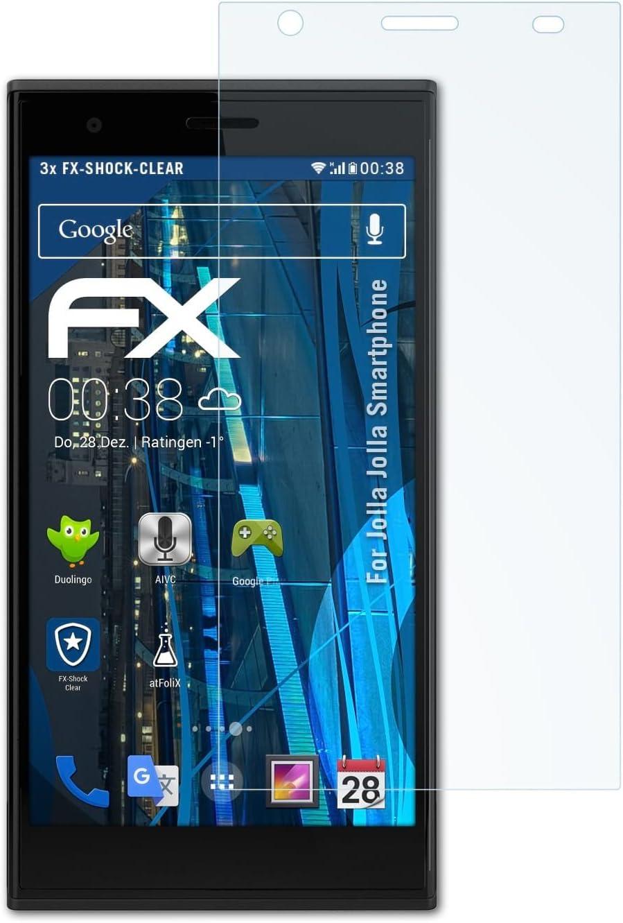atFoliX Antichoque Película Protectora Compatible con Jolla Jolla ...