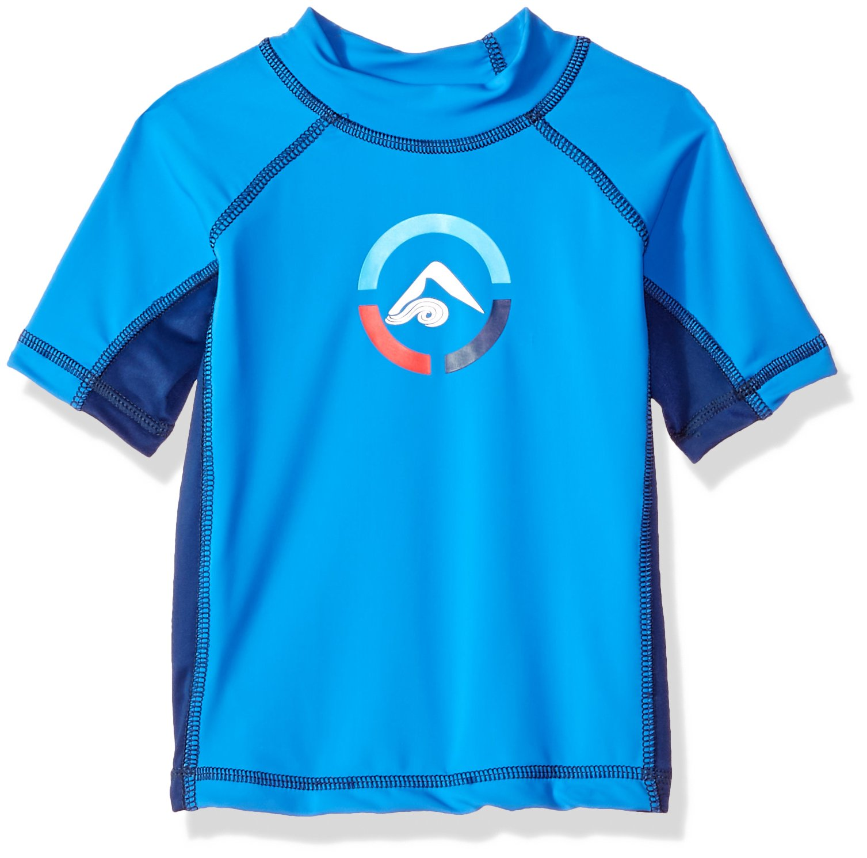 Kanu Surf Toddler Boys' Revival UPF 50+ Sun Protective Rashguard Swim Shirt, Royal, 5T