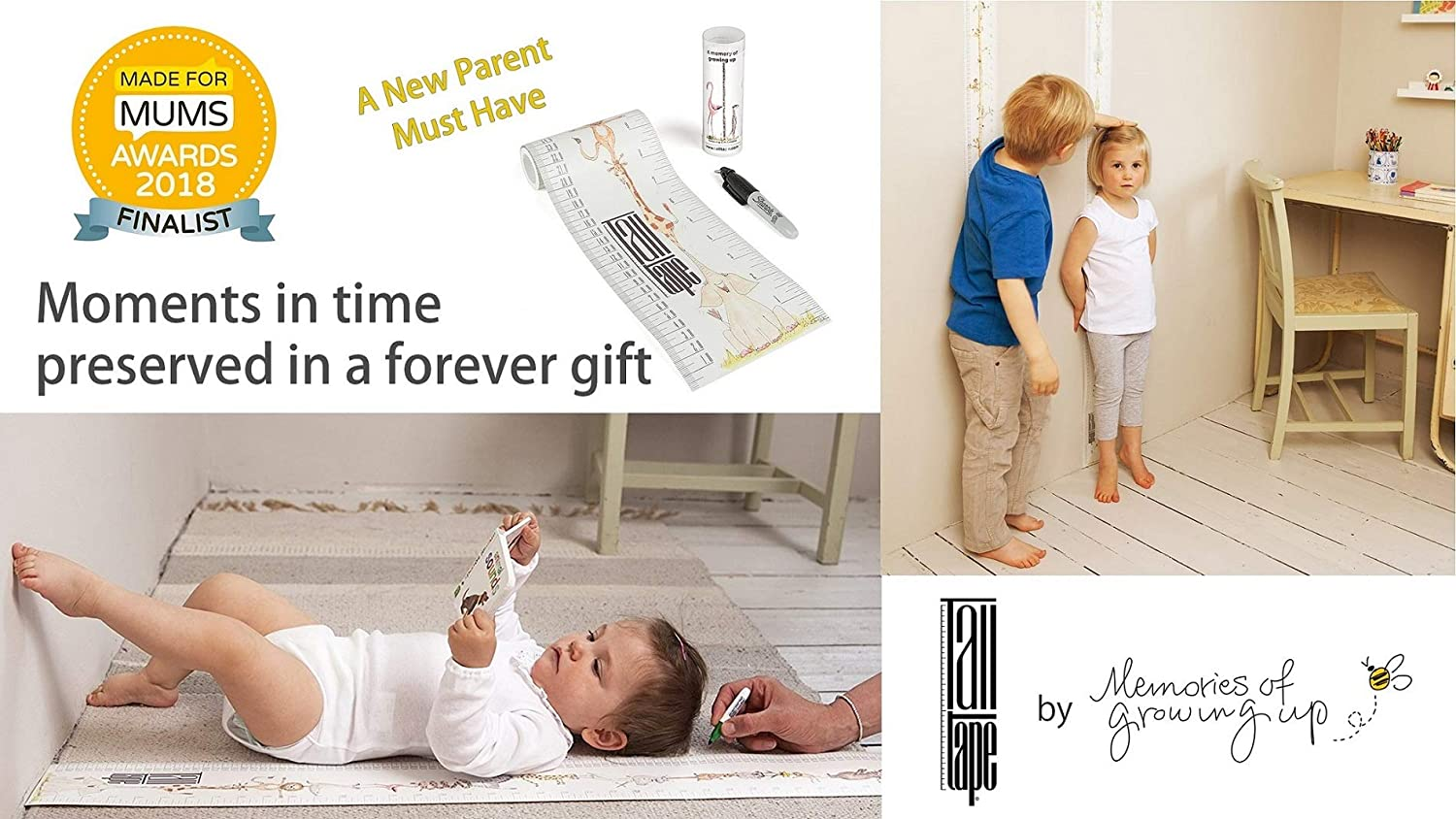 Talltape Tree of Life roll-up bar plus 1 Sharpie mini marker pen to measure children from birth to adulthood portable