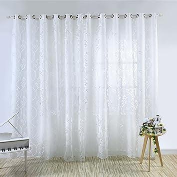 Moresave Wohnzimmer Fenster Vorhang Tull Blumenvorhang Voile Gardinen Schals Mit Osen
