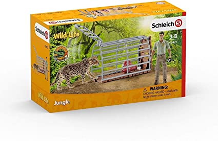 Multicolor Schleich Ranger and Indian Rhinoceros Figurine Toy Play Set