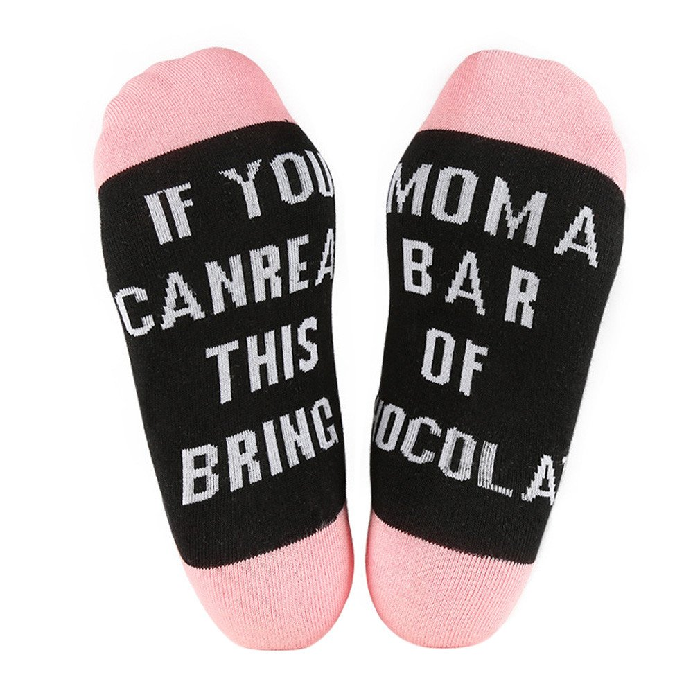 Novelty Funny Saying Crew Socks If You Can Read This Bring Me Taco Bacon Beer Wine Coffee Food Socks for Men Women