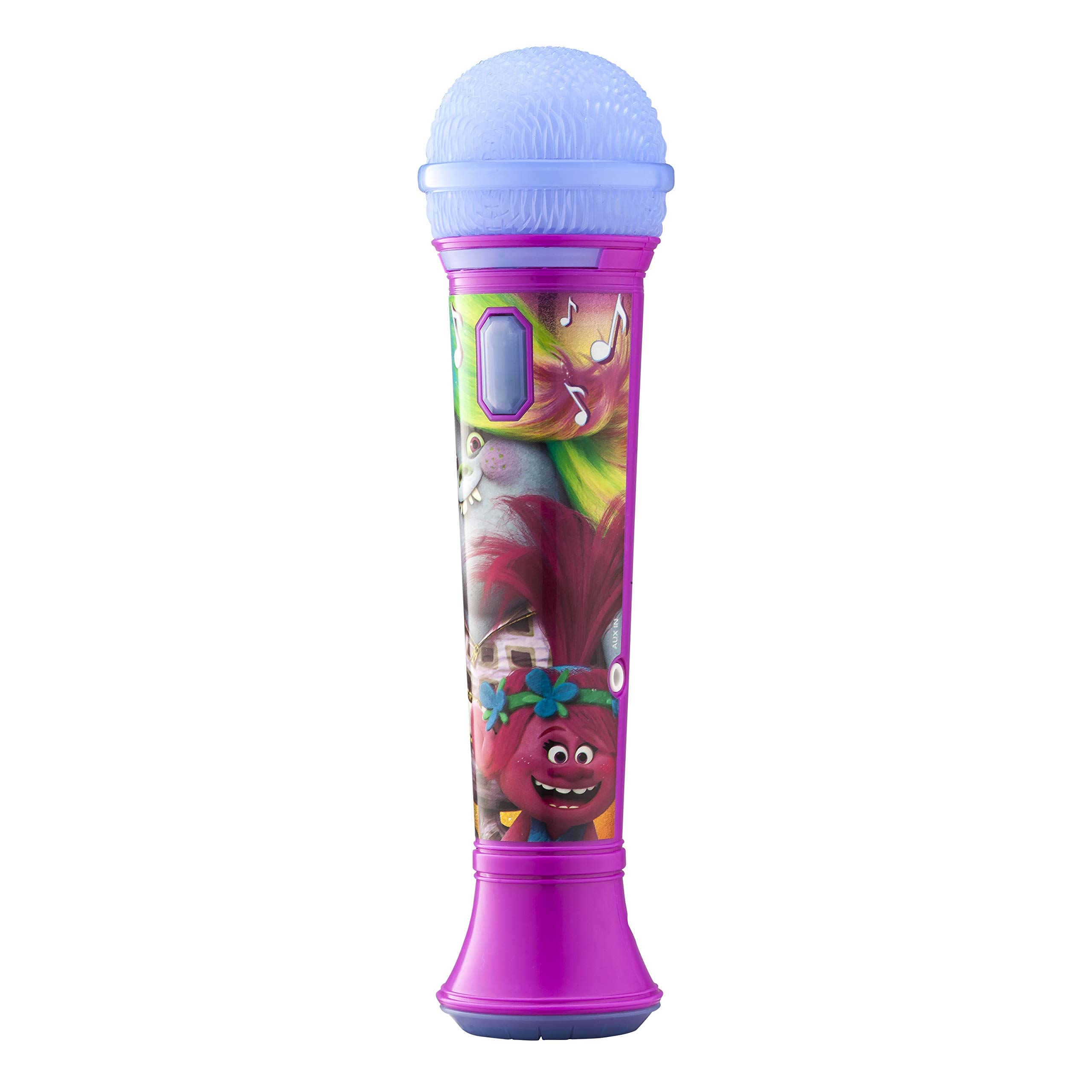 Trolls Sing Along MP3 Microphone Sing to Built in Music or Connect Your Audio Device and Sing to Whatever You Like by eKids (Image #2)