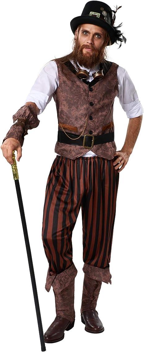 dressforfun 900491 - Disfraz de Hombre Aventurero Steampunk ...