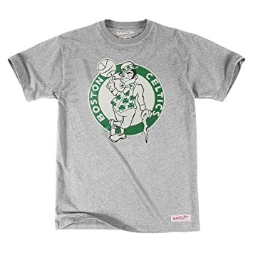 Mitchell & Ness Boston Celtics Traditional Logo NBA – Camiseta Gris, gris, ...
