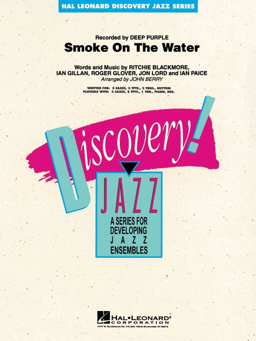 Read Online Hal Leonard Smoke on the Water Jazz Band Level 1-2 Arranged by John Berry PDF