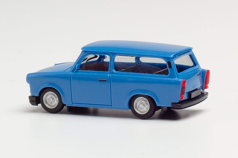 olympiablau in Miniatur zum Basteln Sammeln und als Geschenk herpa 027359-003 Trabant 1.1 Universal