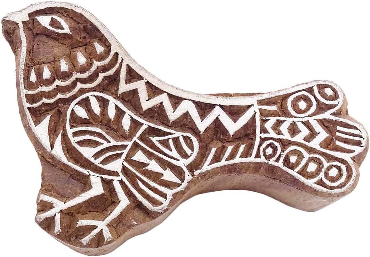 Duck Stamp Brown Indian Wood Stamps Block Textile Stamp Hand Carved Printing