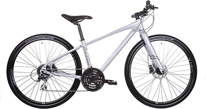 Raleigh Strada 3 Hombre 24 velocidad 650B bicicleta híbrida Platinum: Amazon.es: Deportes y aire libre