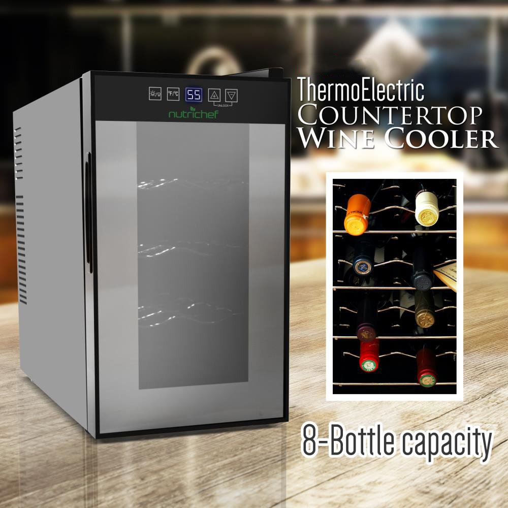 Amazon.com: Nutrichef 8 Bottle Thermoelectric Wine Cooler ...