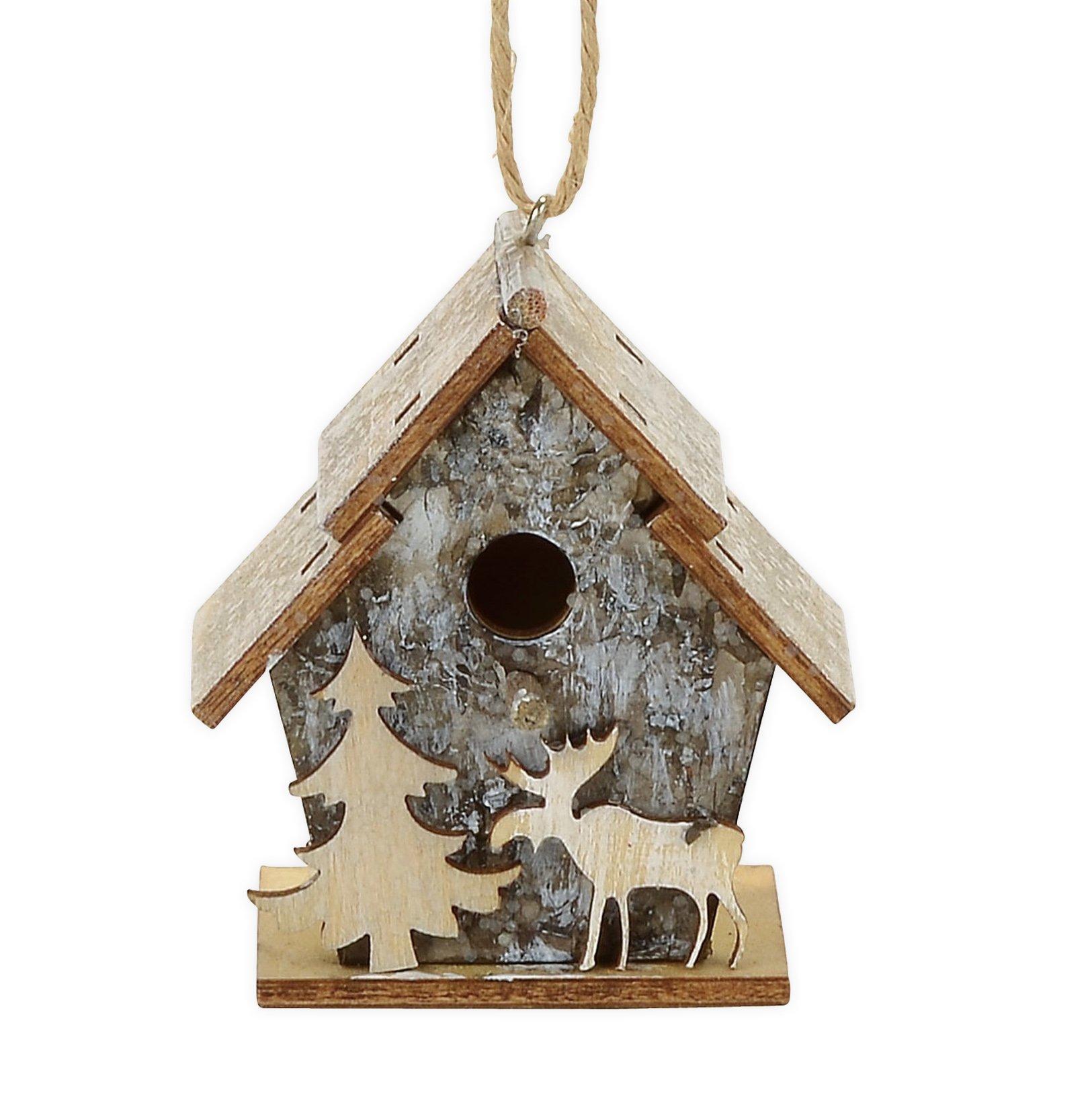 Department 56 Forest Favorites Birch Birdhouse Hanging Ornament