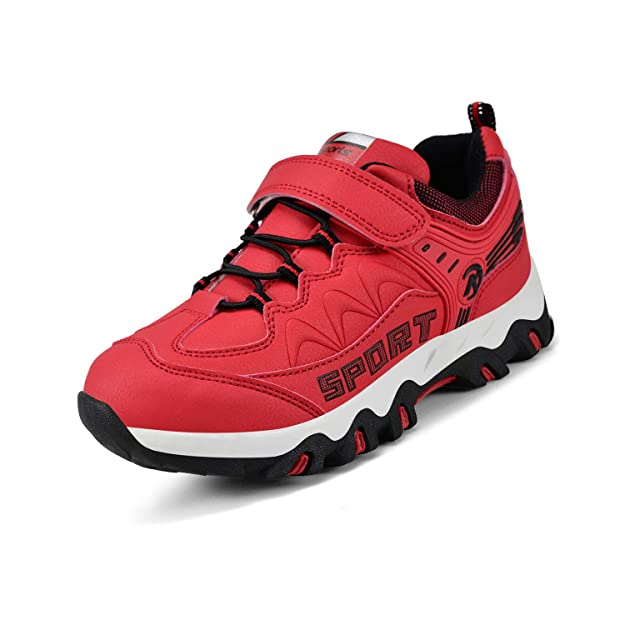 Nyznia boy Shoes Outdoor Waterproof Hiking Running Youth Shoes Red 2 US Little Kid best kids' hiking shoes