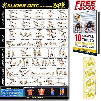 Slider Disco ejercicio entrenamiento Glider Disco Banner Póster grande 51 x 73 cm tren Endurance,