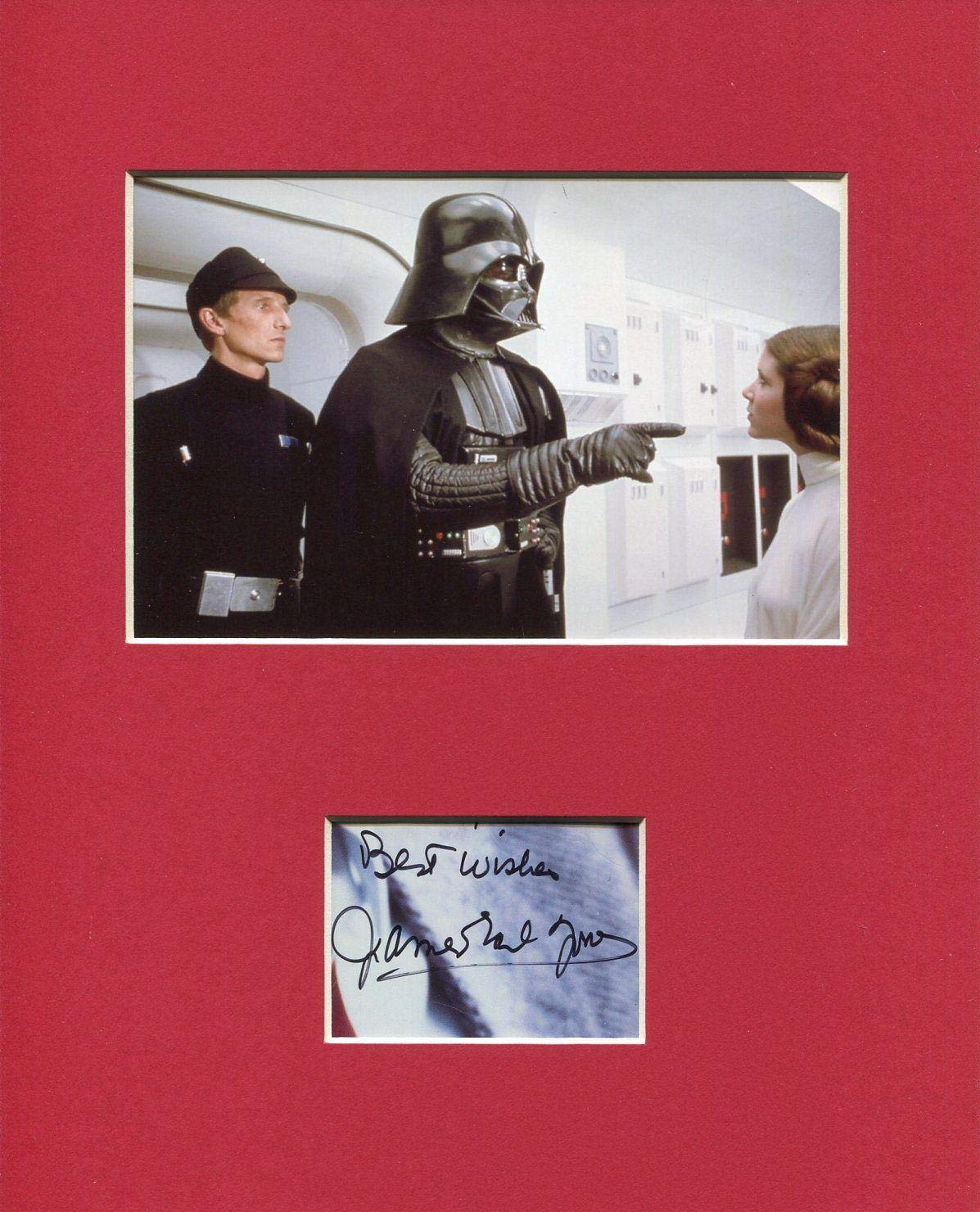 James Earl Jones Rare Star Wars Darth Vader Voice Signed Autograph Photo Display HollywoodMemorabilia